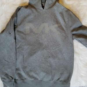 Michael Kors MK Reflective Hoodie Gray